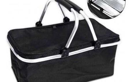 Termo skládací nákupní košík s víkem černý