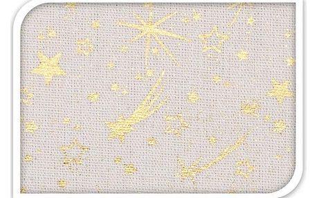 Home Styling Collection Ubrus Vánoční hvězda Betlémská zlatá 140 x 180 cm