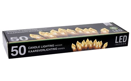 Home Styling Collection Dekorativní svíčka, 50 LED Vnitřní, Bílá, 14 cm