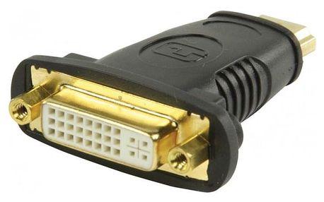 HDMI adaptér s konektory HDMI#DVI zásuvka,černý ROZBALENO
