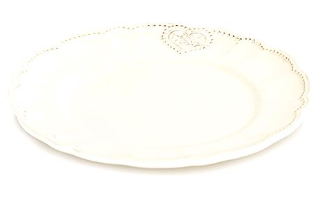 Keramický mělký talíř Srdce 25,4 cm