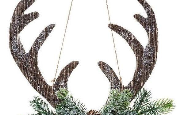 Fééric Lights and Christmas Přívěsek dekorace se soby, vánoční dekorace, 34 cm