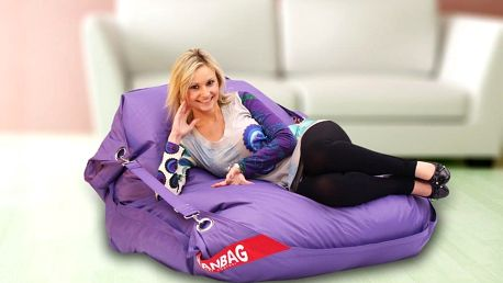 Sedací pytel 189x140 comfort s popruhy violet