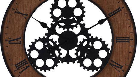 Emako Nástěnné dekorační hodiny v industriálním stylu