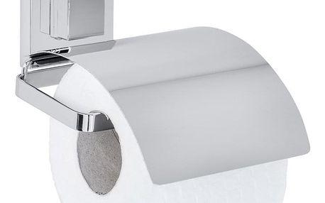 Držák na toaletní papír z nerezové oceli QUADRO, Vacuum-Loc, 12 x 14 cm, WENKO