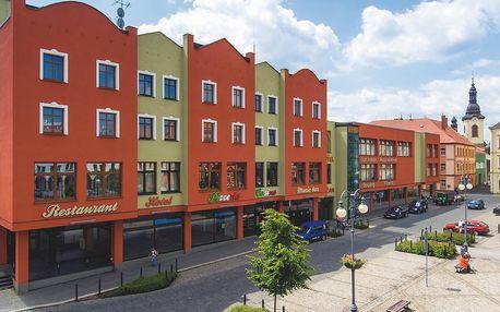 Ubytování přímo na náměstí v Rumburku ve wellness hotelu Lužan