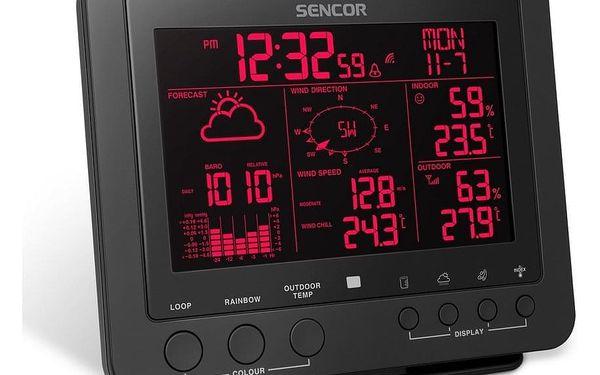 Sencor SWS 9700 Profesionální meteostanice s bezdrátovým senzorem 5v12