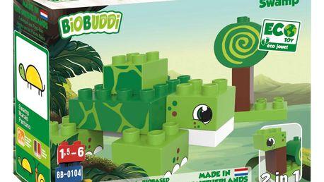 BiOBUDDi Ekologická BIO stavebnice 2v1 Typ: Swamp - Želva a šnek