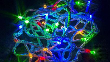 LEDLight Vánoční řetěz LED osvětlení, délka 20m, 200 LED, kabel bílý