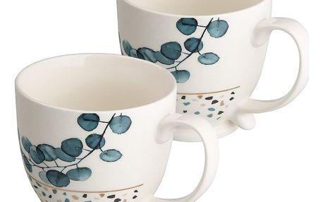 Altom Porcelánový hrnek Konfetti 480 ml, 2 ks, modrá