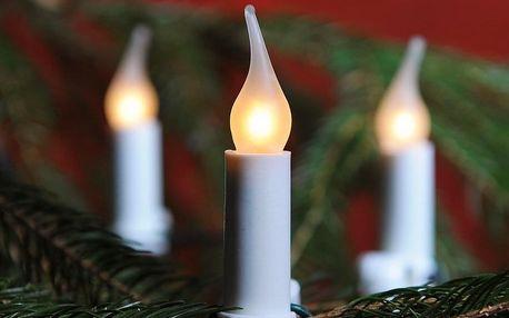 Světelný řetěz Gloria bílá, 16 žárovek