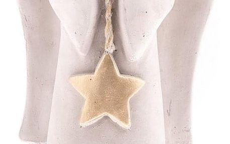 Betonový anděl s hvězdou, 27,5 cm