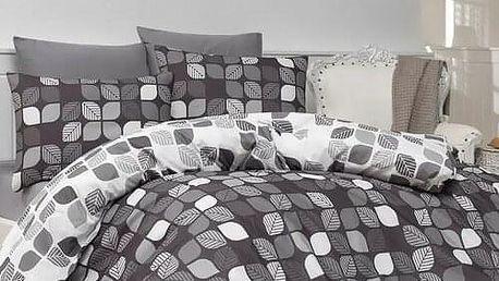 Bedtex Bavlněné povlečení Bunku V1 grey, 140 x 200 cm, 70 x 90 cm