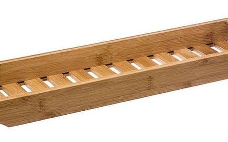 5five Simple Smart Podložka, police navanu, zekologického bambusového dřeva, šířka 70 cm, rychle oschne, snadno se očistí, hnědá barva