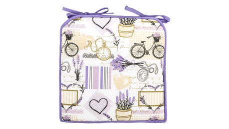 4Home Prošívaný sedák Lavender, 40 x 40 cm
