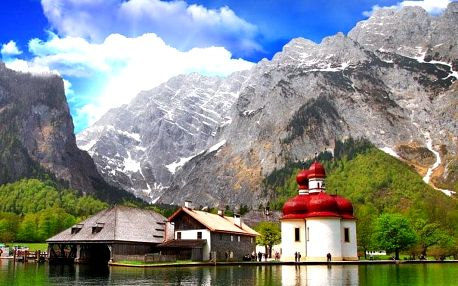 Orlí hnízdo, NP Berchtesgaden, solné doly a jezero Königssee, Bavorsko