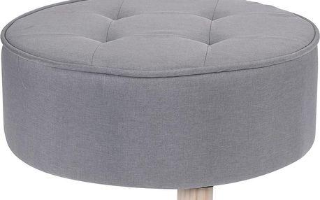 Home Styling Collection Taburet, sedátko, opěrka nohou, šedá barva - 52 x 22 cm