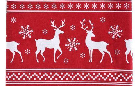 Home Styling Collection Ubrusy sobů, ubrus na vánoční stůl, červená, 140 x 240 cm