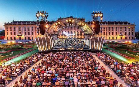 Vídeň s letním koncertem filharmoniků v Schönbrunnu - odjezd Prah, Vídeň