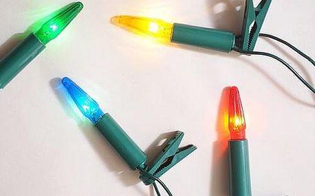 Světelný řetěz Asteria barevná, 16 žárovek
