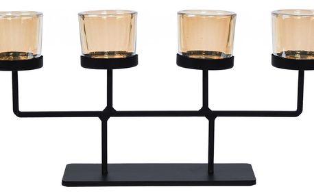 Svícen na čajové svíčky Valderas, 37 x 18,5 cm