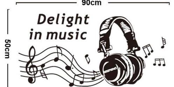 Samolepicí dekorace Delight in music2