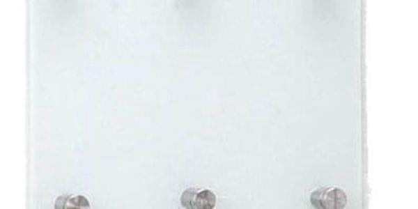 Skleněná tabule na klíče, 9 háčků + police, ZELLER