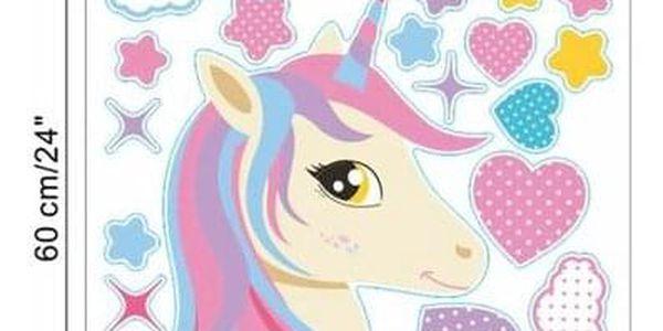 Samolepicí dekorace Unicorn, 122 x 70 cm3