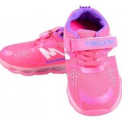 Dětské tenisky blikající růžovofialové vel.28