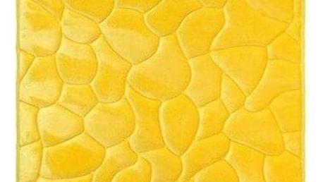 VOPI Koupelnová předložka s paměťovou pěnou Kameny žlutá, 50 x 80 cm