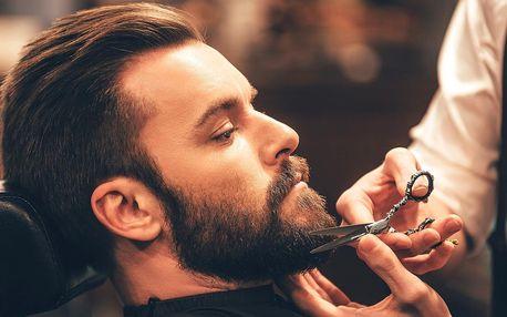 Péče o vlasy a vousy v barber shopu pro 1 osobu