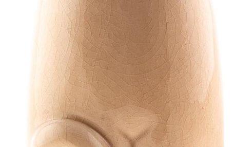 Keramická kasička kočka 19,5 cm, hnědá