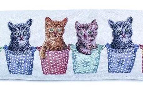 BO-MA Trading Ozdobný těsnící polštář do oken Kočky, 90 x 22 cm