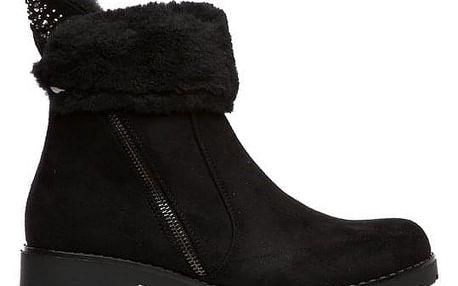 Dámské černé kotníkové boty Jerylin 124