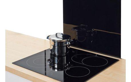 Ochranný skleněný panel BLACK na sporáky - velký, ZELLER