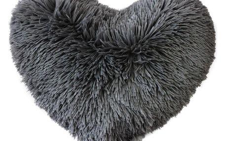 Douceur d'intérieur MARILOU chlupatý polštář, černý, 40 x 40 cm