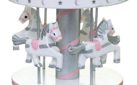 Fééric Lights and Christmas vánoční melodie kolotoč koně téma hudební box růžové