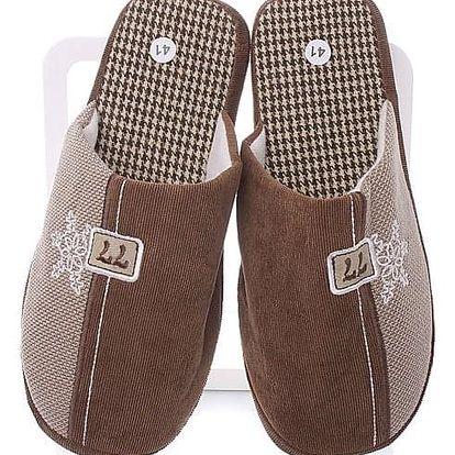 MODERN WORLD Pánské papuče TDC-762BR Velikost: 43 (28 cm)