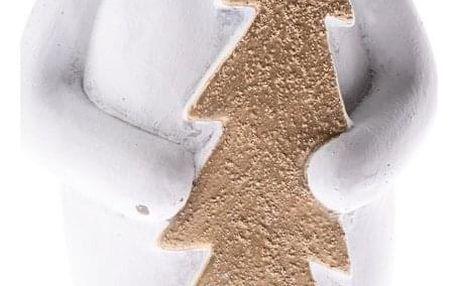 Betonový medvěd se stromečkem, 24 cm