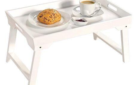 Kesper Skládací stůl do postele v bílém provedení