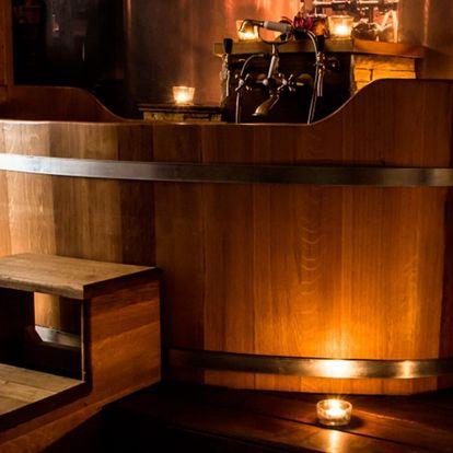 Pivní či vinná koupel i masáž pro 2: 90-120 min.