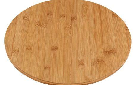 EH Excellent Houseware Otočný bambusová deska na sýry a lehké občerstvení