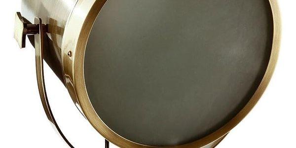 Atmosphera Podlahová lampa trojnožka hnědá, industriální, ve tvaru reflektoru.2