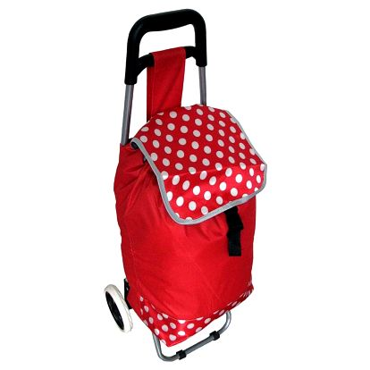 Nákupní taška na kolečkách Puntík, červená