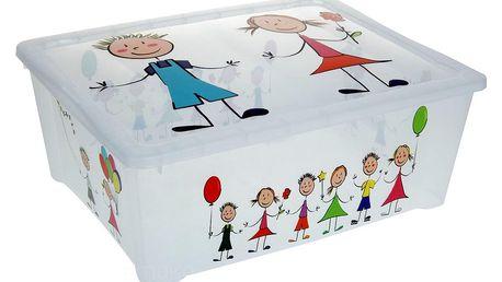 Emako Box na hračky KIDS - kontejner s víkem