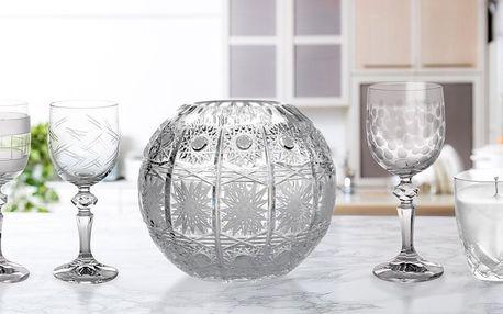 Český křišťál Gold Crystal: skleničky, vázy i svíčky