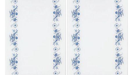 Ochranné skleněné panely BLUE FLOWER na sporák – 2 ks, WENKO