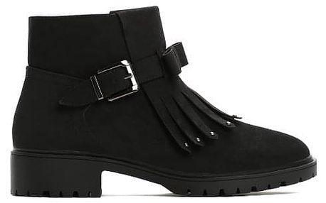 Dámské černé matné kotníkové boty Reese 059