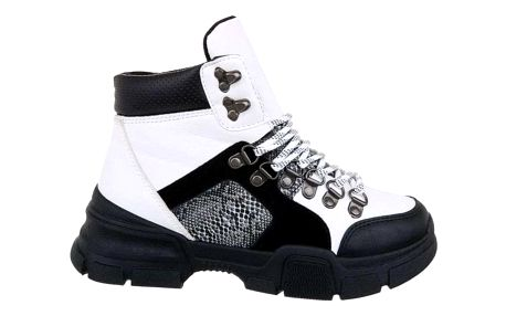 Dámské bílé kotníkové boty Varys 19067