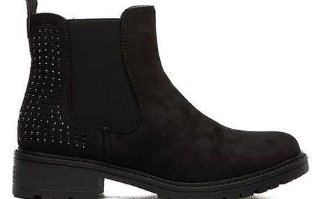 Dámské černé kotníkové boty Efir 127